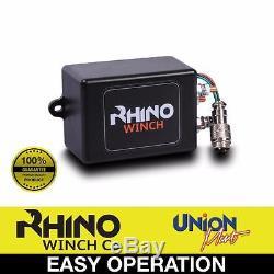 Treuil Électrique 12v, Corde Synthétique De 4500lb, 4x4 Robuste, Récupération De Vtt Rhino