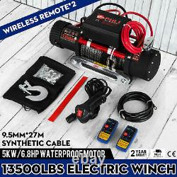 Treuil Électrique 13500 Lb 12v Corde Synthétique Winchmax 4x4 / Recovery Wireless 93ft