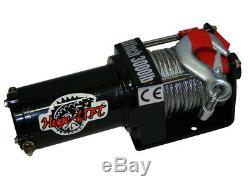 Treuil Électrique 4x4 4x4 3000 / 6000lbs, Moteur 1000w 1.34ps, Longueur 10,2m Ø5.2mm C