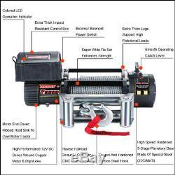 Treuil Électrique 6.0hp 6.0hp Tungsten Électrique Ip67 Imperméable Avec Le Câble Métallique Pour Utv De Atv