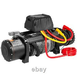 Treuil Électrique 9500lbs 12v 85ft Synthetic Rope 4wd Atv Utv Winch Towing Truck