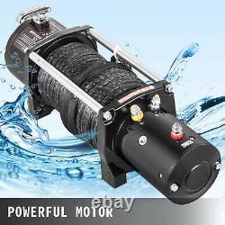 Treuil Électrique 9500lbs 12v Corde Synthétique 4 Roues Motrices 85 Pieds Vtt Utv Treuil De Remorquage Camion