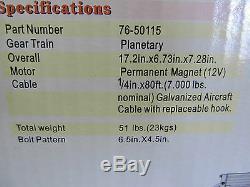 Treuil Électrique Planétaire Mile Marker 4500 Lbs 76-50115, Câble Pe4500 1 / 4x80 '