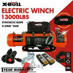 Treuil Électrique X-bull 12v 13000lbs Remorque À Corde Synthétique Remorque De Remorquage 4wd
