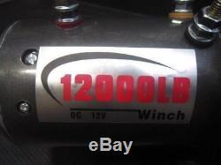Treuil Résistant 12000lb 12v De Récupération Électrique De DD Avec À Télécommande 5443kg