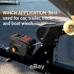 Treuils Portable Winch De Remorquage 6000 Lbs Véhicule Remorque Bateau Bonne Voiture À Distance S