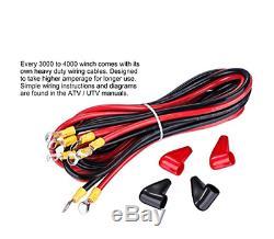 Tungsten4x4 T4000s Treuil Électrique Pour Vtt / Utv 1.6 HP 4000lbs Avec Corde Synthétique
