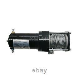 Us 12v 3000lb Électrique Atv Rope Câble Treuil De Camion Remorque De Bateau Levage Sling