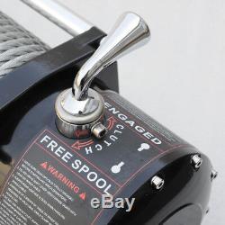 VI 12000lb Électrique De Récupération Winch Universal Dc12v / 24v Câble D'acier Corde De Remorquage