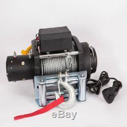 VI 15000lb Électrique De Récupération Treuil Universel 12v Câble D'acier Corde De Remorquage Remorquage Kit