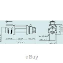 VI Tds-12.0c 12000lb Lbs Pound Récupération Treuil Électrique 12v 6.0hp Câble D'acier