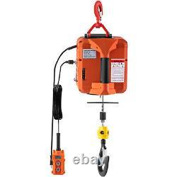 Vevor 1100 Lb Électric Wire Hoist Winch Hoist Crane Lift Avec Télécommande De Fil
