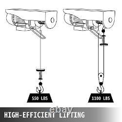 Vevor 1100lbs Électric Hoist Treuil Lift Moteur Crane Overhead Lift Wire Moto