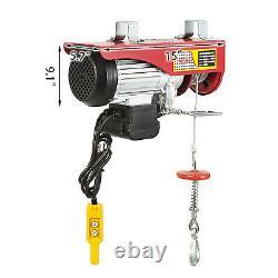 Vevor 1100lbs Électric Hoist Treuil Lifting Crane Overhead Avec Télécommande