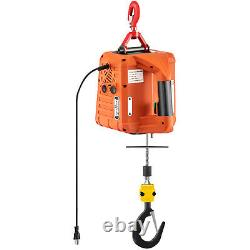 Vevor 1100lbs Treuil Électrique Portatif Avec Télécommande Sans Fil Lift 25ft