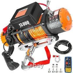 Vevor 13000lbs 12v Treuil Électrique Avec Corde Synthétique 85ft, Contrôle Sans Fil