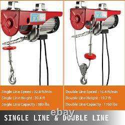 Vevor 1760lbs Électric Hoist Treuil Lift Moteur Grue Lift Supports De Crochet Pa800