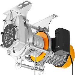 Vevor 1760lbs Electric Hoist Winch Lifting Engine Crane Lift Hook Avec Télécommande