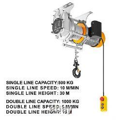 Vevor 2200lbs Electric Hoist Winch Lifting Engine Crane Lift Hook Avec Télécommande