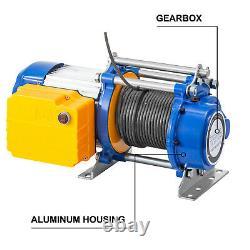 Vevor 3300lbs Electric Hoist Winch Lifting Engine Crane Lift Hook Avec Télécommande