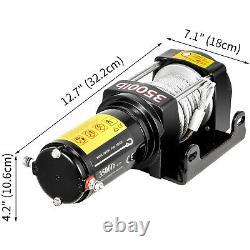 Vevor 3500lbs Câble Électrique À Distance Sans Fil Treuil 12v Atv Bateau Roller Fairlead