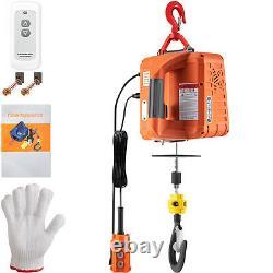 Vevor 3-en-1 Electric Hoist Winch Portable Crane 1100lbs 25ft Avec Télécommande