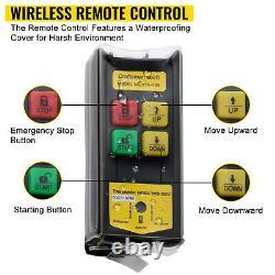 Vevor Electric Hoist 110v Electric Winch 1320lbs Avec Télécommande Sans Fil