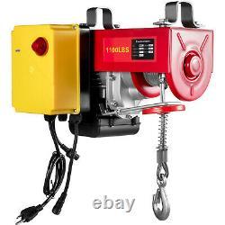 Vevor Électrique Hoist 110v Treuil Électrique 1100lbs Avec Télécommande Sans Fil