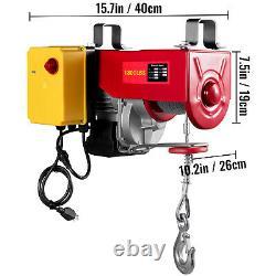 Vevor Électrique Hoist 110v Treuil Électrique 1800lbs Avec Télécommande Sans Fil