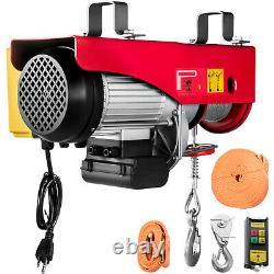 Vevor Électrique Hoist 110v Treuil Électrique 2200lbs Avec Télécommande Sans Fil