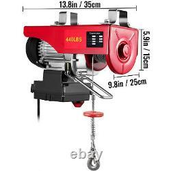 Vevor Électrique Hoist 110v Treuil Électrique 440lbs Avec Télécommande Sans Fil