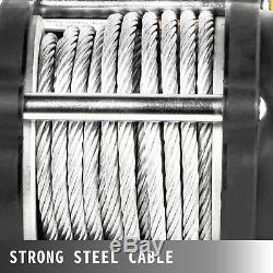 Vevor Treuil Électrique 12v 5000lbs 13m Câble D'acier De Remorquage Camion Remorque Vtt Utv