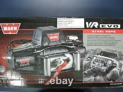 Warn 103250 Vr Evo 8 8000lb Winch 12v Roller Fairlead 90' 5/16 Câble Métallique