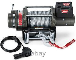 Warn 47801 M15000 15000 Lb Premium Series Winch 4.6hp Roller Fairlead 90' Câble