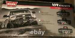 Warn Vr Evo 8 Electric 12v DC 4 Ton 8,500 Lbs Winch Avec Steel Cable Wire Rope Nouveau