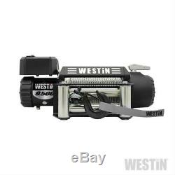 Westin Noir 9.500 Lbs Road Series Winch Off W Acier Corde 47-2100