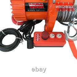 Winch Électrique 12v 15000lb (en Limited 4,082kg Max) Winchmax Brand Recovery