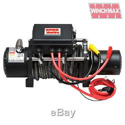 Winch Electrique 12v 4x4 13000 Lb Militaire Spec Présentées Winchmax Synthetique Corde