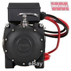 Winch Electrique 12v 4x4 13500 Lb Militaire Spec Présentées Winchmax Synthetique Corde