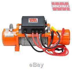 Winch Electrique 12v 4x4 / Recovery 13500 Lb Winchmax Marque + Plaque De Montage Inc
