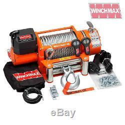 Winch Electrique 12v Récupération 4x4 17000 Lb Winchmax Original Orange À Distance Winch