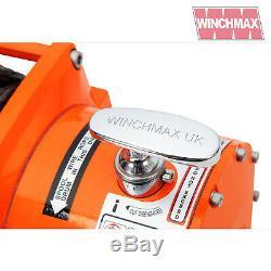 Winch Electrique 12v Récupération 4x4 17000 Lb Winchmax Sans Fil Synthetique Dyneema