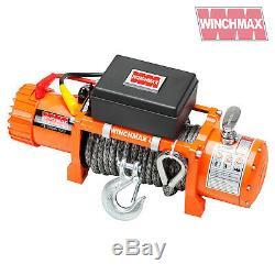 Winch Electrique 13500lb 12v Synthetique Corde Winchmax 4x4 / Reprise Sans Fil Dyneema