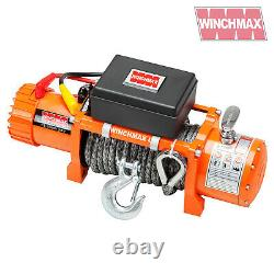 Winch Électrique 13500lb 24v Corde Synthétique Winchmax 4x4/recovery Wireless Dyneema