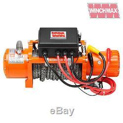 Winch Electrique 13500lb 24v Synthetique Corde Winchmax 4x4 / Reprise Sans Fil Dyneema