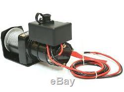 Winch Electrique 4x4 2000lbs 700w Moteur 15m Longueur À Distance Control Ø4mm