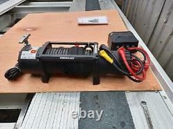 Winch Électrique De Récupération 12v Treuil Résistant À L'eau Avec Corde Synthntique
