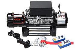 X-bull12v Câble D'acier Sans Fil 13000lbs / 5897kgs Treuil Électrique Pour 4 Roues Motrices 4x4 Off