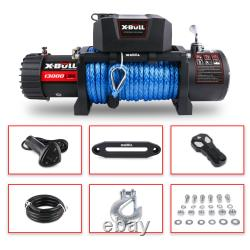 X-bull 12v 13000lbs Treuil Électrique Jeep Jeep Remorquage Camion Hors Route 4wd