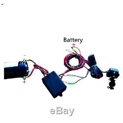 X-bull 12v 3000lbs / 1360kg Treuil Électrique 2 À Télécommande Pour Bateau Électrique En Acier